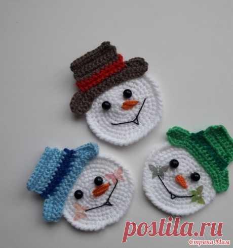 Зимние аппликации - Вязание для детей - Страна Мам