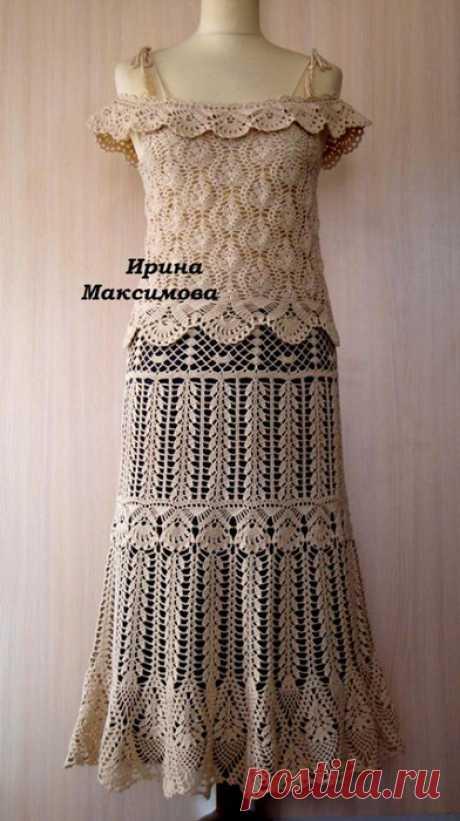 Комплект: юбка и топ. Автор Ирина Максимова