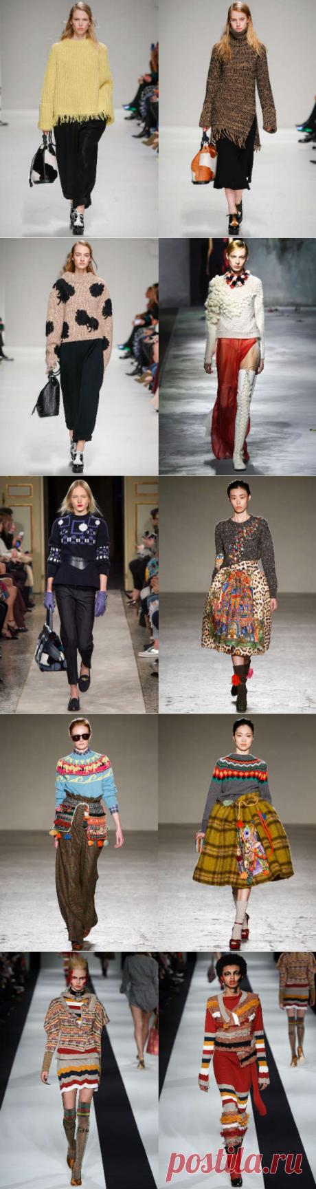 Модные вязаные свитера осень-зима 2015-2016: полный обзор - Ladiesvenue декор