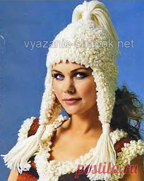 Как связать спицами зимнюю шапку с ушками | ВЯЗАНИЕ ШАПОК: женские шапки спицами и крючком, мужские и детские шапки, вязаные сумки