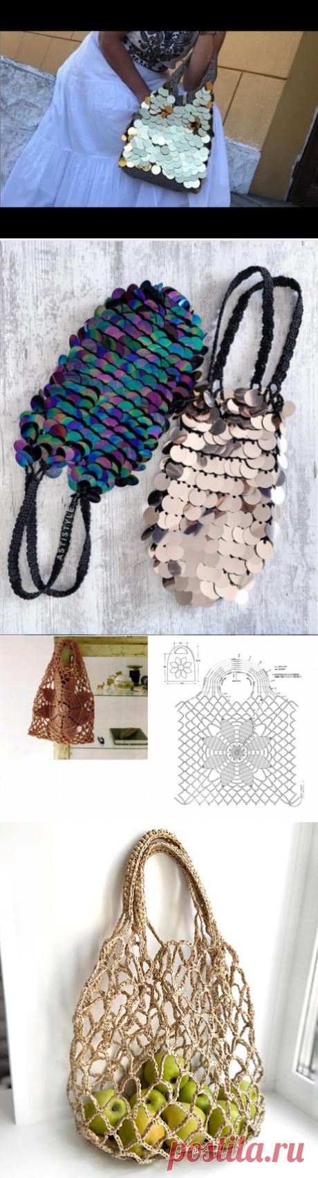 Простые и необычные авоськи крючком - идеи для вязания и вдохновения
