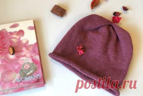 Шапка-бини спицами: схема, описание, советы для женщин по вязанию
