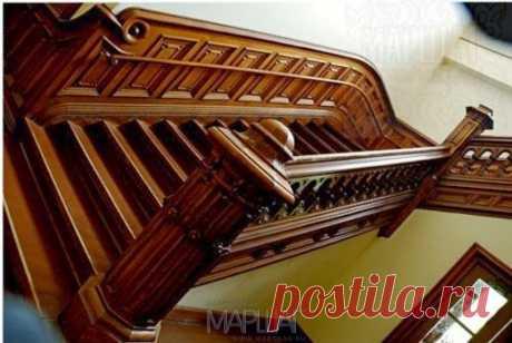 Изготовление лестниц, ограждений, перил Маршаг – Перила из дерева ценных пород