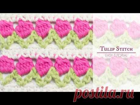 How To: Crochet The Tulip Stitch - Easy Tutorial - Hopeful Honey