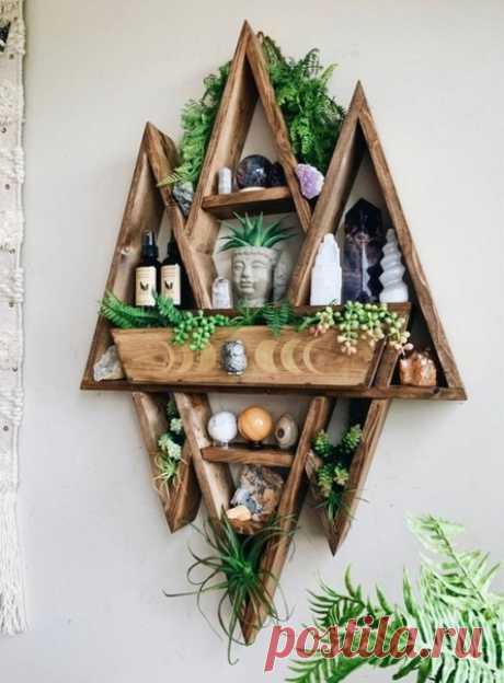 Необычные деревянные полки от Cedar And Craft Co
