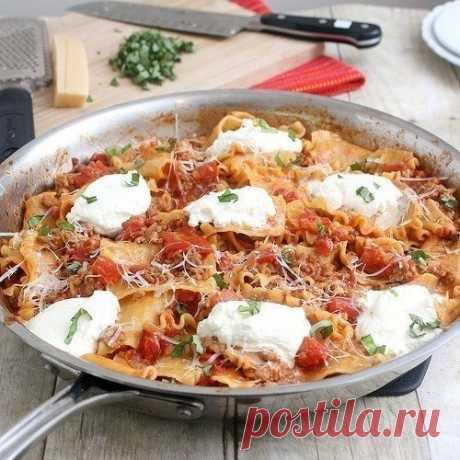 Как приготовить лазанья в сковороде - рецепт, ингредиенты и фотографии