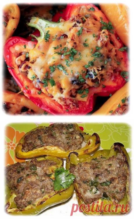 Фаршированные перцы, запеченные в духовке | Вкусный рецепт