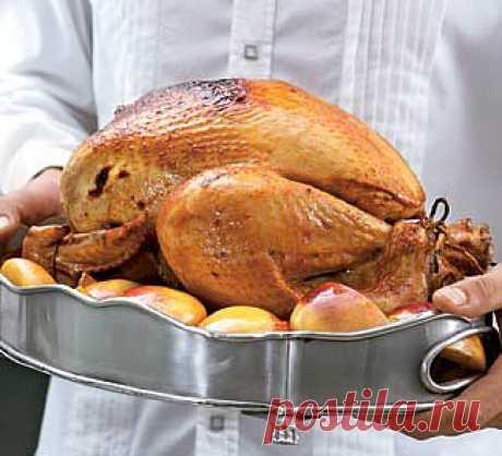 Фаршированная рождественская индейка, второе блюдо. Пошаговый рецепт с фото на Gastronom.ru