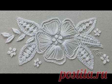 Румынское кружево на ткани | Romanian lace on fabric