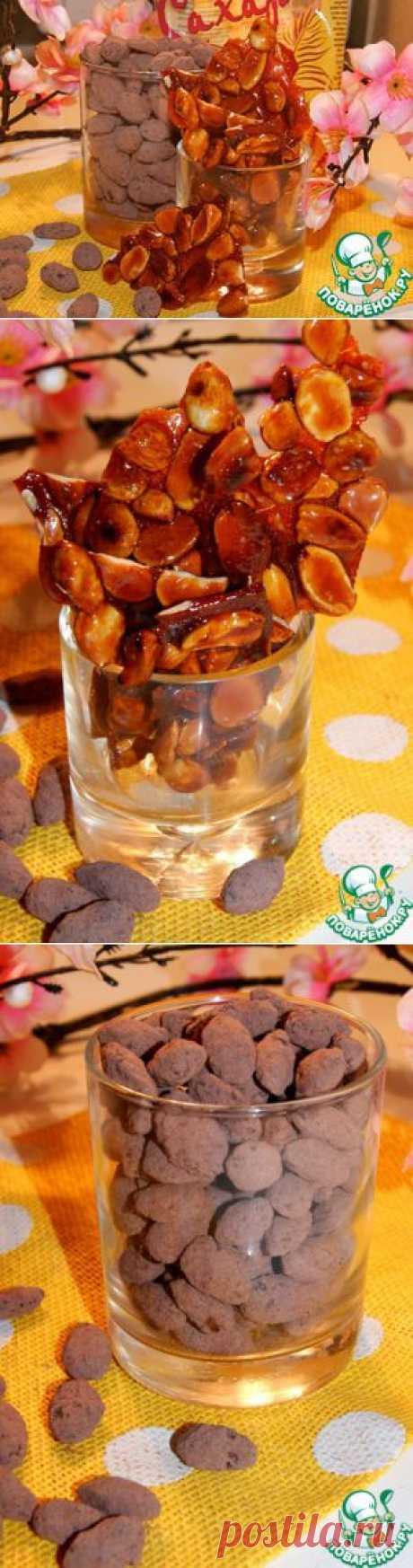 Миндаль в шоколаде и карамели - кулинарный рецепт