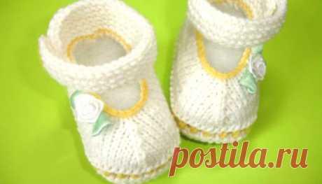 Как связать пинетки спицами - пошаговые схемы плетения для начинающих с описанием, фото и видео