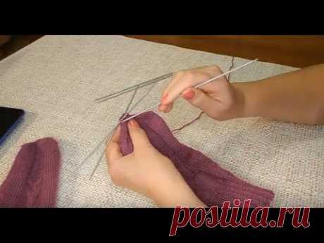 Как связать рукавицы с удобным пальчиком