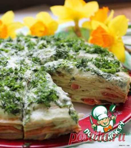 """Торт с семгой """"Немного весны"""" - кулинарный рецепт"""