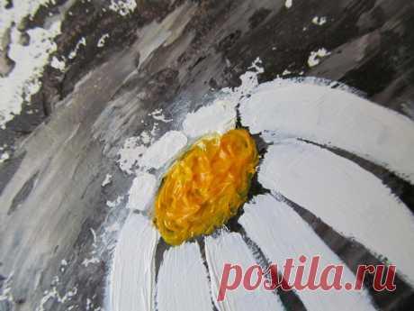 Kamille Ölgemälde Original Kunst Floral Ölgemälde Blume   Etsy