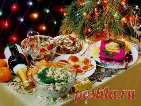 Советский новогодний стол
