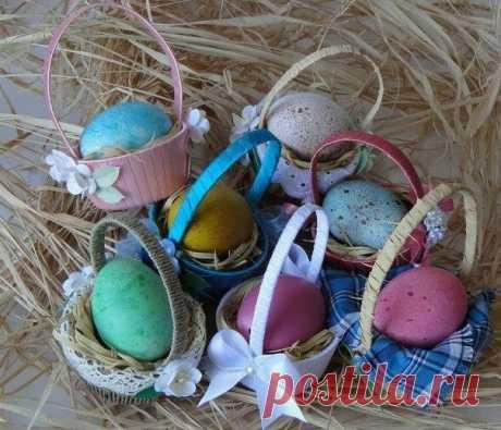 Easter basket the hands