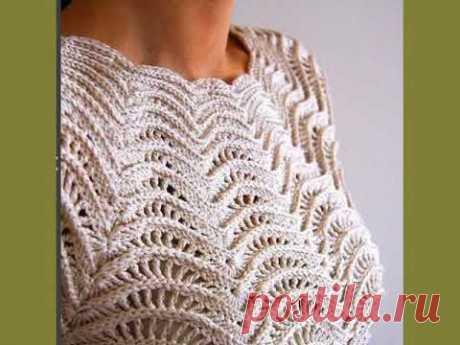 Вязание крючком. Ажурная кофточка || Crochet. Openwork blouse