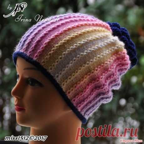 """""""Цепочки"""" - cap spokes to my woman of fashion. Cross knitting by the shortened ranks + the description all hello! I will show one more hat, to other winter jacket the Yarn of Alize Baby Wool Batik 50g\/175m in two threads, 40% wool, 40%akril, 20%bambuk."""