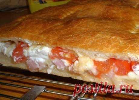 Закрытая пицца Кальцоне - безумно вкусно!.