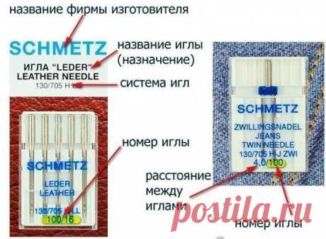 Recommendations about the choice of needles to sewing machines