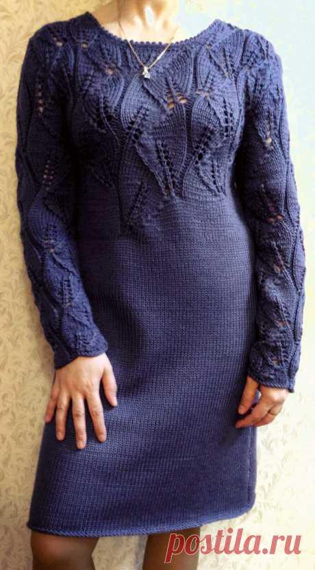 """Платье """"Мои листочки"""". Схема узора. - Красивое вязание"""