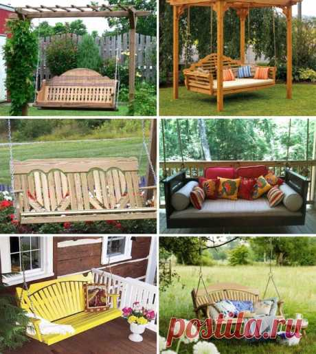 Garden swing - a comfortable recreation area the hands - the House and building - Articles - FORUMHOUSE