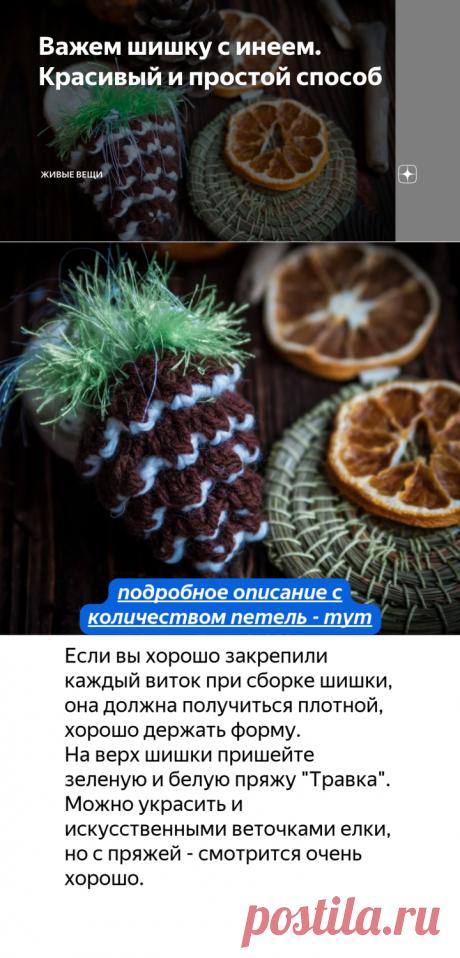 Важем шишку с инеем. Красивый и простой способ   Живые вещи   Яндекс Дзен