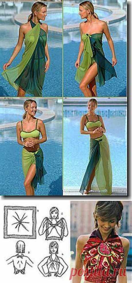 Секрет в узелке-3: Как завязать парео? - подиум - Модные показы и fashion-тренды на ETOYA.RU!