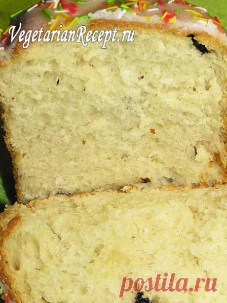 Пасхальный кулич без яиц - рецепт вегетарианских куличей без яиц с фото