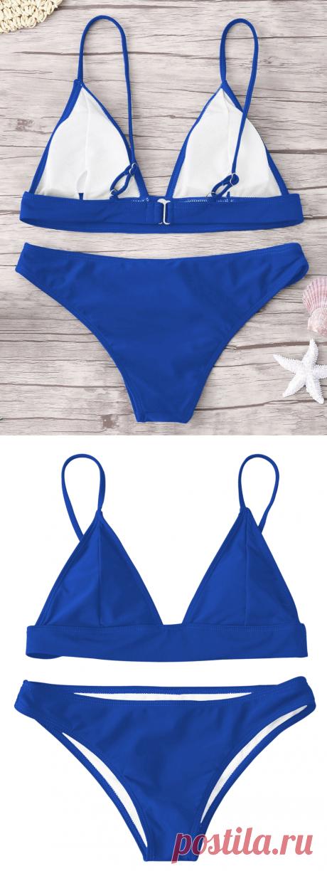 [33% OFF] 2020 Padded Bikini Set In ROYAL | DressLily