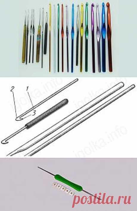 Крючки для вязания, виды и назначение