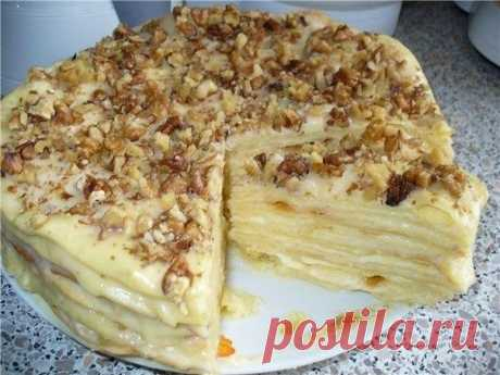 """Торт """"Королевский"""".  Привлекло меня в этом тортике то, что два коржа (песочный и безе) выпекаются вместе! Сделала, попробовала... вкусно!  Стакан = 250 мл. Показать полностью…"""