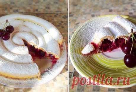 Ловко придумано — Хитрый пирог с вишней