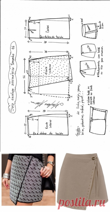 Skirt pattern with a smell (Sewing and a cut) | the Inspiration of the Needlewoman Magazine