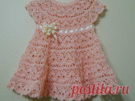 Вязаные платья для девочек на лето крючком
