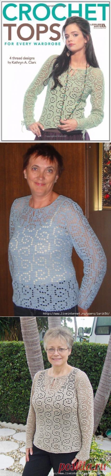 Филейный пуловер