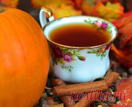 Пирог из тыквы и горячий чай...
