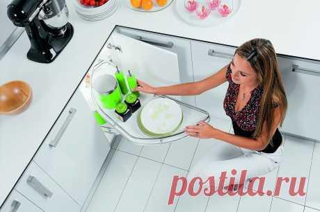 Как использовать скрытые резервы кухонных шкафов, чтобы не оставалось «воздуха» и «мертвых» зон