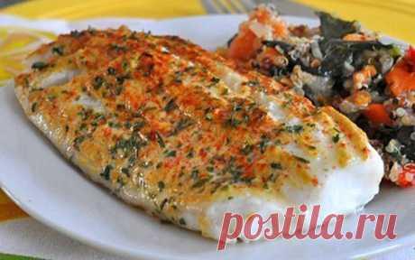 Филе рыбы, запеченное под горчицей