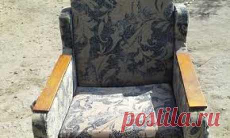 Как обновить старое кресло или софу - меняем обивку сами