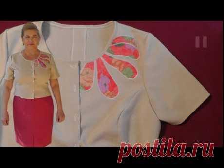Шьем блузку с аппликацией | Подробный МК