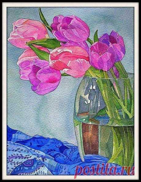 Рисуем тюльпаны акварелью — DIYIdeas