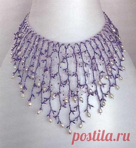 Жемчужный блеск Колье, бусы, ожерелья из бисера – Бисерок