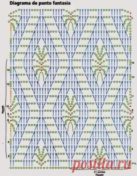 Симпатичный узорчик для вязания