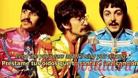 With a little help of my friends - The Beatles (LYRICS_LETRA) [Original]