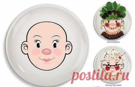 Раздобыть такие тарелки и детей за уши не оттащишь)