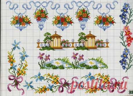 75 schemes of miniatures for an embroidery a cross