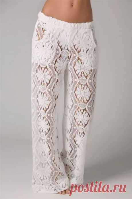 Ажурные вязаные брюки идея — Мир вязания и рукоделия