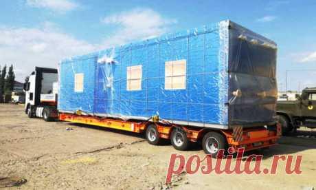 необходимо перевезти 7 строительных бытовок (6*2,4) - части составного мобильного АБК из Екатеринбурга (Эльмаш) в Курган (Коли Мяготина)