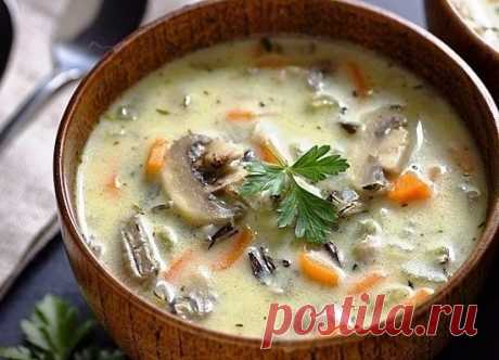 Как приготовить сливочный суп с рисом и грибами - рецепт, ингредиенты и фотографии